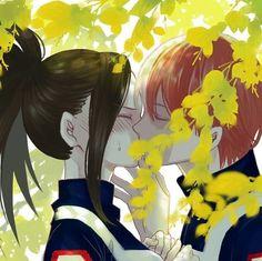Todoroki Shouto x Yaoyorozu Momo / Boku no Hero Academia Boku No Hero Academia, My Hero Academia Memes, Hero Academia Characters, My Hero Academia Manga, Manga Anime, Anime Art, Accel World, Image Manga, Hero Wallpaper