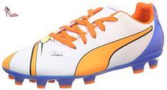 Puma , Chaussures de foot pour homme, Blanc - Weiß (white-orange clown fish-electric blue lemonade 01), 3 UK - Chaussures puma (*Partner-Link)