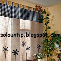 Como hacer cortinas paso a paso ~ Solountip.com Patchwork Curtains, Valance Curtains, Curtain Tie Backs, Kitchen Curtains, Master Class, Sweet Home, Diy Crafts, Shabby, House