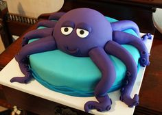Purple octopus cake. So cute.