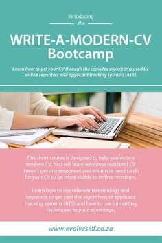 WRITE-A-MODERN-CV Bootcamp Learn how to get your CV through the complex algorithms used by online recruiters and applicant tracking systems (ATS). Persuasive Essay Topics, Essay Writing Tips, Academic Writing, Resume Writing, Resume Cv, Custom Essay Writing Service, Research Paper Writing Service, Custom Writing, Writing Services
