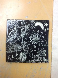 Finished product of the zentangle square!