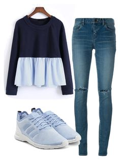 """""""Untitled #397"""" by aaisha123 ❤ liked on Polyvore featuring WithChic, Yves Saint Laurent and adidas Originals"""