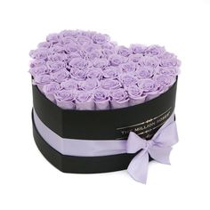 About 35 stems of The Million ETERNITY lavender (long lasting preserved roses). The Million Eternity Rose last up to one ye Rosen Arrangements, Floral Arrangements, Amazing Flowers, Beautiful Roses, Million Roses, Personalized Gift Cards, Box Roses, Preserved Roses, Luxury Flowers