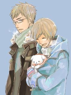 Sweden and Finland from Hetalia make me happy when they are together. :)