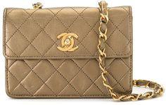 1990 Mini Diamond Quilted Chain Crossbody Bag Chain Crossbody Bag, Diamond Quilt, Chanel, Shoulder Bag, Mini, Classic, Bags, Fashion, Derby