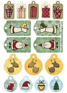 Printable Gift tags for Christmas Noel Christmas, Christmas Gift Tags, Christmas Projects, All Things Christmas, Illustration Noel, Theme Noel, Gift Tags Printable, Christmas Printables, Christmas Decorations