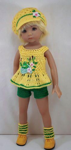 """Ооак наряд для куклы 13"""" Дианна Effner Little Darling Связаная Крючком Кукольная Одежда, Вязаные Куклы, Связаные Крючком Куклы, Куклы, Куколки, Одежда Для Кукол, Малышки, Кукольная Одежда, Платья Для Кукол"""