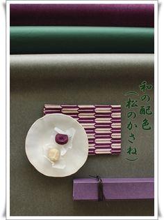 matsu no kasane  Japanese colorcoodination style http://www.colorboration.com