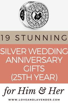 19 Stunning Silver Wedding Anniversary Gifts (25th Year) for Him & Her | The 25th wedding anniversary is a massive milestone and celebrating is a must! Whether you're planning a once-in-a-lifetime trip or something closer to home, we've hunted down some gorgeous gifts to make the day even more memorable | Click on the image to see all our gift ideas and inspiration Love & Lavender Presents For Your Boyfriend, 25 Wedding Anniversary Gifts, Next Wedding, Good Marriage, Couple Gifts, Closer, Lavender, How To Memorize Things, Gift Ideas