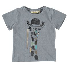 Picture of Bass Embroidered Giraffe T-Shirt Blue