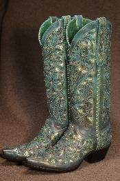 Tres Outlaws Turquoise and Bronze Swarovski Boots Cowboy Boots Women, Cowgirl Boots, Western Boots, Cowboy Hats, Mode Country, Estilo Country, Boot Scootin Boogie, Over Boots, Boot Jewelry