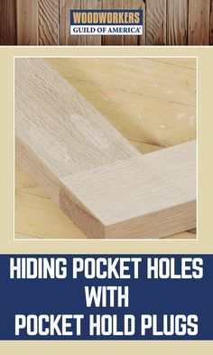 Screw pockets are a great way to put projects together, but are unsightly. If the pocket holes on your project are going to show when it's done, there's a great (and easy) way to hide them. All it takes is glue, dowels and some hand tools. You can even turn pocket holes into a decorative accent.