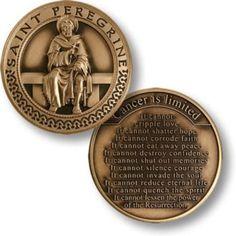 Saint Peregrine - Patron Saint of Cancer Patients Coin