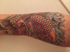 My tattoo #tattoo #koi #lotus #fish