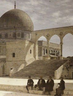 The Dome of the Rock as seen from the al-Aqsa Mosque , Jerusalem , Palestine Palestine History, Israel Palestine, Jewish History, Old Pictures, Old Photos, Drawing Pictures, Terra Santa, Dome Of The Rock, Mekka