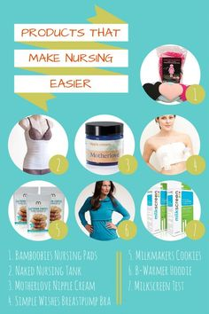 A few products that can help make your life easier while nursing. #nursing #breastfeedingawarenessmonth
