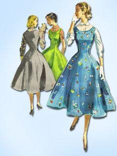 1950s Vintage McCalls Sewing Pattern 3354 Misses Jumper or Dress Size 13 31B by vintage4me2 on Etsy