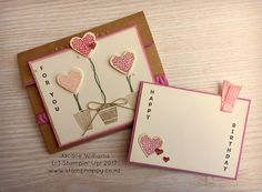 I'm back with another project using the Vertical Greetings stamp set! This time I went to something quite different and chose a softer colour combination:  I've used Blushing Bri…