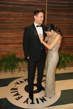 Channing Tatum in Gucci with Jenna Dewan-Tatum. [Photo by Tyler Boye]