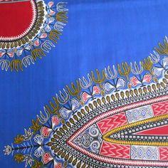 Dashiki , angelina ,addis abeba, tissu wax(pagne africain) fond bleu 78cm x117cm