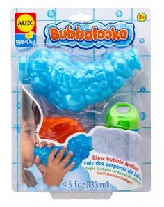 It's the coolest bubble maker in town. Use it in the bathtub (or out) to blow super long bubble snakes!