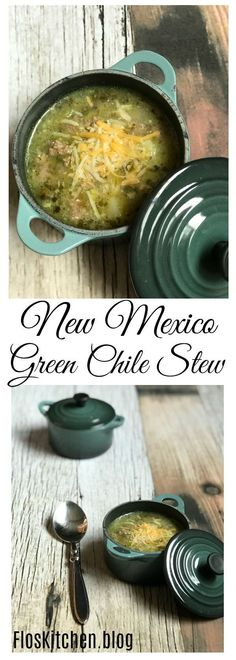 New Mexico Green Chile Stew. Ground beef, green chile and potatoes in a hearty broth. New Mexico Green Chile Stew. Ground beef, green chile and potatoes in a hearty broth. New Mexico Green Chili Recipe, Hatch Green Chili Recipe, Green Chili Recipes, Spicy Recipes, Mexican Food Recipes, Hatch Chili, Mexican Cooking, Dishes Recipes, Beef Recipes