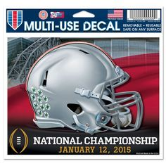 Ohio State Buckeyes 2015 College Football Playoffs National Champions Helmet Decal