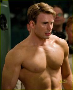 And then there is Chris Evans as Captain America!    /sigh again   :D