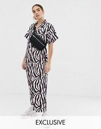 Order COLLUSION zebra print oversized jumpsuit online today at ASOS for fast delivery, multiple payment options and hassle-free returns (Ts&Cs apply). Get the latest trends with ASOS. Embellished Jumpsuit, Printed Jumpsuit, Boiler Suit, Occasion Wear, Zebra Print, New Outfits, Fashion Online, Wide Leg, Asos