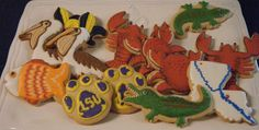 Louisiana Themed cookies by Sugar Cookie & Co.