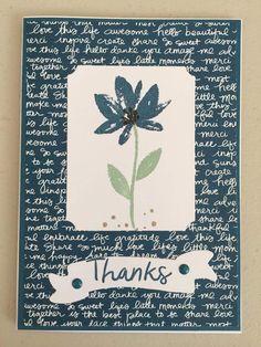 SU Avant garden, Thankful Thoughts stamp sets. Inks- Daper Denium, Mint Macaron, Crumb Cake, Early Espresso