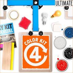 DIY Print Shop® 4-Color Screen Printing Kit