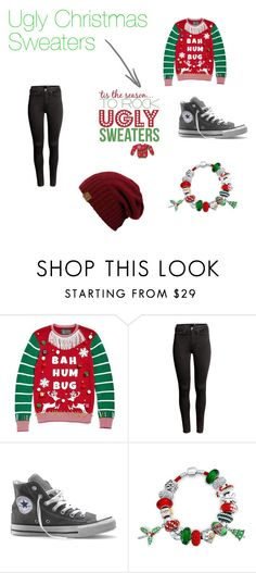 """""""Ugly Christmas Sweaters"""" by lover-860 ❤ liked on Polyvore featuring interior, interiors, interior design, home, home decor, interior decorating, Ugly Christmas Sweater, H&M, Converse and Bling Jewelry"""