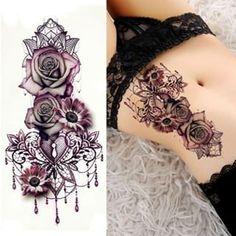 Purple Rose Tattoo # lila # Tattoo # Make-up # Schönheit # Hautpflege - Tattoo Sleeve - Natural Playground Ideas - DIY Living Room Ideas - Underlights Hair - Art Deco Engagement Ring Fake Tattoos, Great Tattoos, Trendy Tattoos, New Tattoos, Tattoos For Guys, Tattoos For Women, Maori Tattoos, Cross Tattoos, Polynesian Tattoos