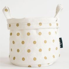 Canvas Bucket (Polka Dot) from Shopninespace
