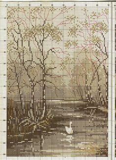 ru / Photo # 18 - Landscapes - logopedd---PG 2 OF 3 Cross Stitch House, Cross Stitch Tree, Cross Stitch Bookmarks, Cross Stitch Charts, Cross Stitch Designs, Cross Stitch Patterns, Blackwork Embroidery, Cross Stitch Embroidery, Embroidery Patterns