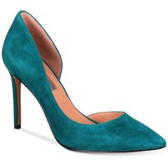INC Kenjay d'Orsay Pumps, Created for Macy's (4.560 RUB) ❤ liked on Polyvore featuring shoes, pumps, teal, teal pumps, d orsay pumps, teal shoes, teal blue shoes and d'orsay pumps