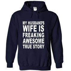 MY HUSBAND WIFE FREAKING ?#AWESOME  #husband #wife #tshirt #shirt