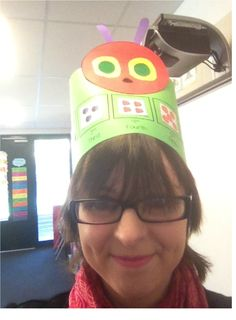 Retelling The Very Hungry Caterpillar in ordinal number, fancy-hat style!
