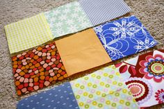 Tips on making a patchwork quilt- great for a beginner quilter!