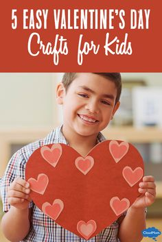 Looking for Valentine's Day craft ideas for the kids? Try these 5 easy crafts for kids this Valentine's Day, including cards, art projects and keepsakes that make great gifts!