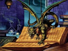 Dragon on the spell book