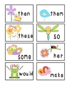 Spring Fluency Cards (Fry Words and Phrases)