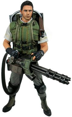"""Hot Toys Resident Evil Chris Redfield S.T.A.R.S. version 12"""" Figure"""