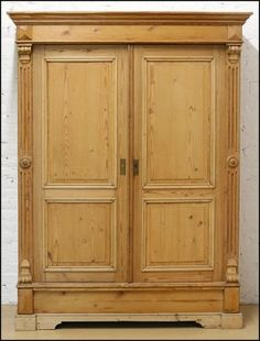 A Carved #Pine #Armoire Lot 147-1033