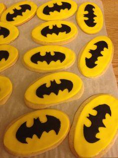 Batman Logo Cookies - Peanut Free