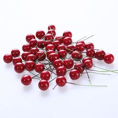 20Pcs/Lot Red/Orange Artificial Cherries Berry Picks for for Christmas Tree Wreath Garland Decorations #ChristmasDecor