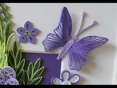 D.I.Y. Ribbon Quilled Butterfly | MyInDulzens - YouTube