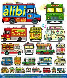 Alibi Food Truck Field Guide on Behance